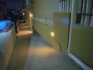 改修後南側通路の夜間照明