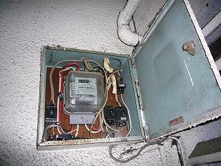 改修前電気の分電盤