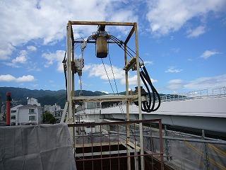 高圧電気引き込みの鉄塔