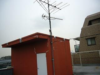 改修前屋上アンテナ