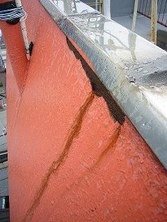 改修前鉄板屋根のサビ