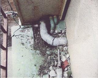 排水の破裂